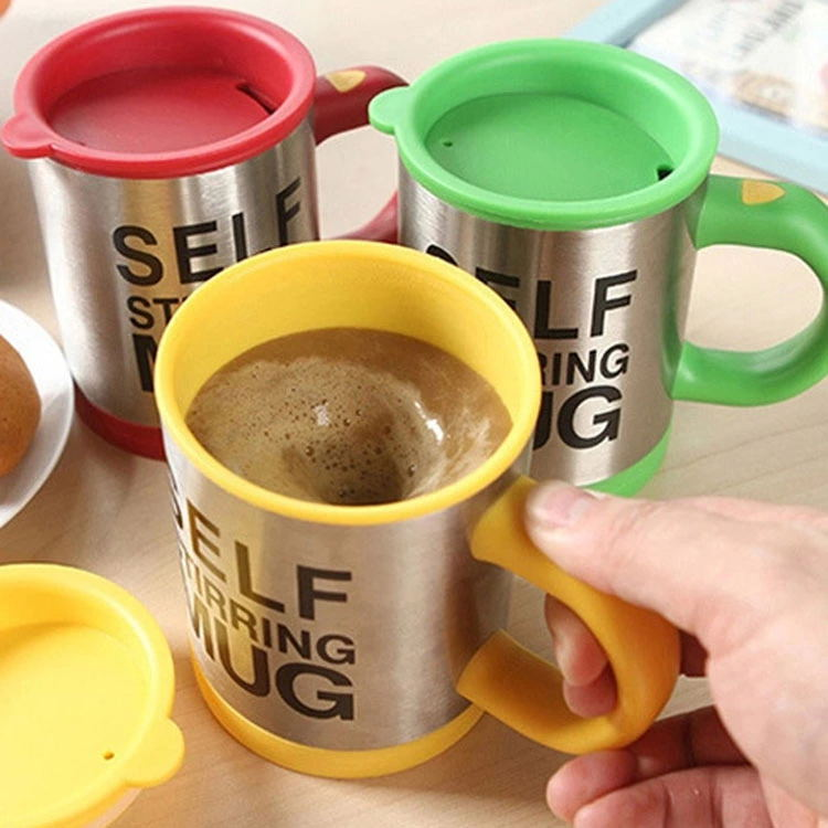 Double insulated self stirring mug Stainless Steel Electric Lazy Automatic Mixing travel coffee Mug press thermal cup