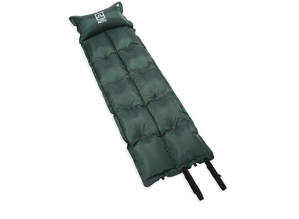 SHDIOU Camping Mat Outdoor Folding Mat Automatic Inflatable Camping Mat Mattress Self-Inflating Moistureproof Tent Pad with Pillow