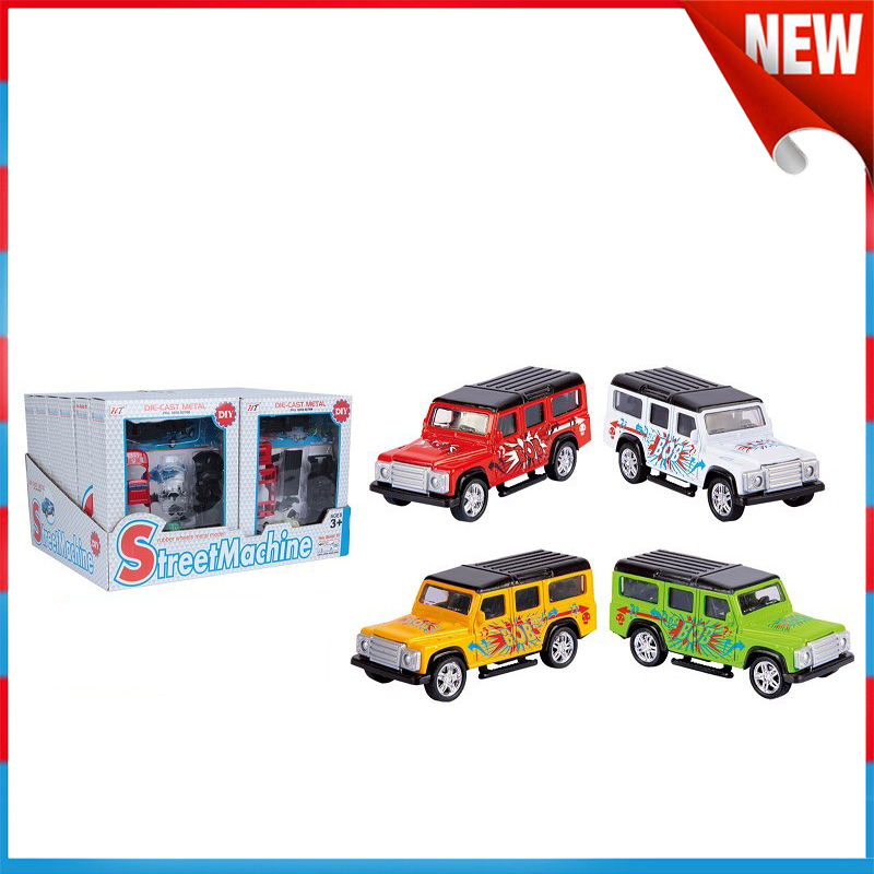 Kids Toys Plastic Pull Back Famous Car Alloy Jeep Car Toys