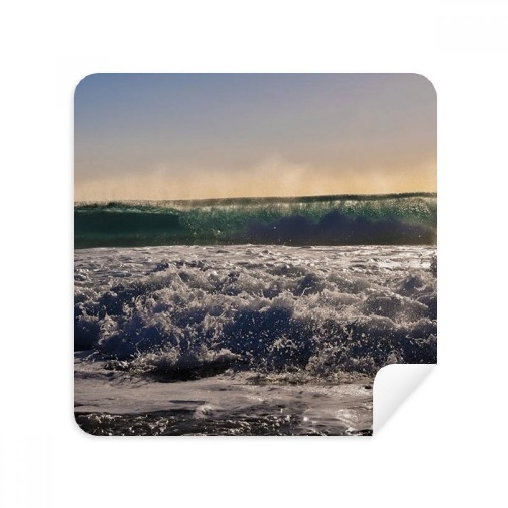 Sunshine Ocean Water Wave Science Nature Picture Glasses Cleaning Cloth Phone Screen Cleaner Suede Fabric 2pcs
