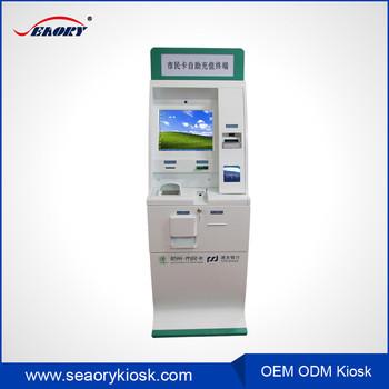 Custom Self Service Barcode Reader / Qr Code Reader Scanner Financial  Equipment Swift Media Touch Screen Kiosk - Buy Equipment Swift Media Touch