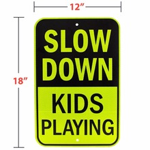 Hot Sale Please Slow Down Custom Reflective Traffic Safety Road Sign Board