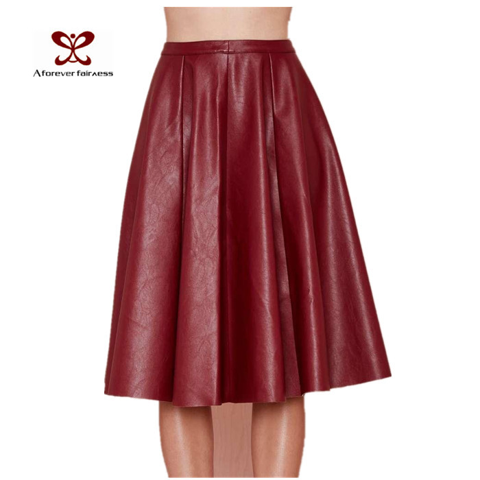 0ae5c362d Get Quotations · 2015 Summer Skirts Red Maxi Skirt Long Womens Women Skirts  Summer Red Pleated Knee Length Skirt
