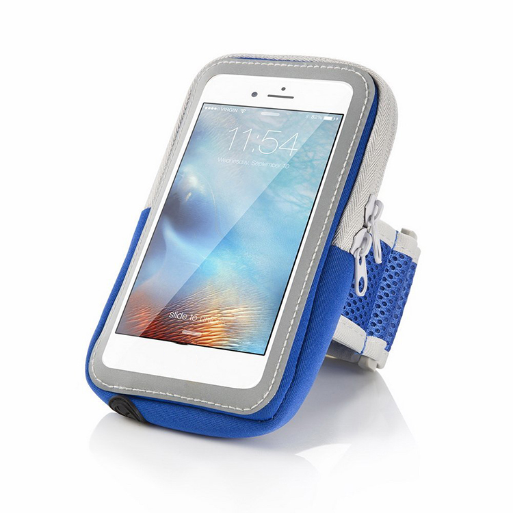 Sports Armband Sweatproof Running Armbag Gym Fitness Cell Phone Case with Key Holder Wallet Card Slot for iPhone