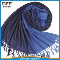 black mixed white retro Tie-Dye double color pashmina shawl