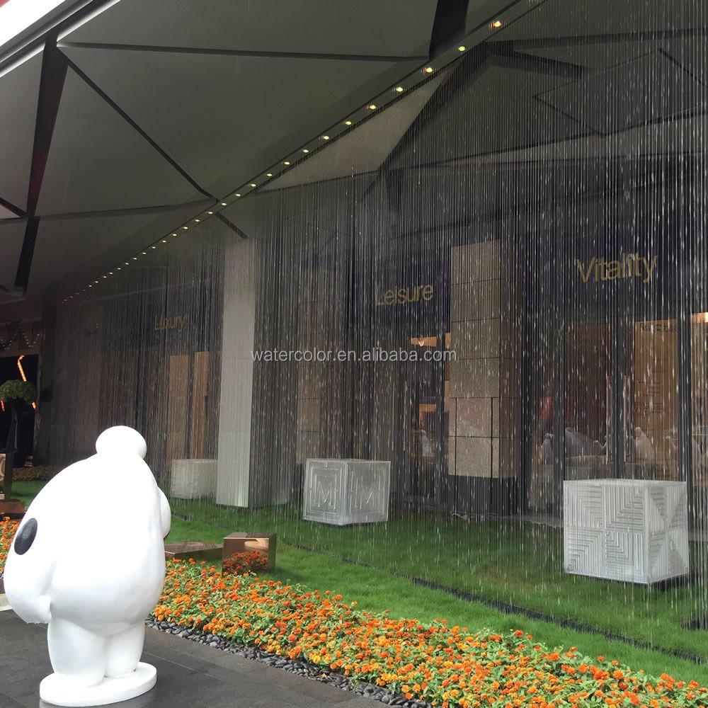 comercio garanta de moderno hotel indoor juegos de agua de agua fuente cortina de agua para