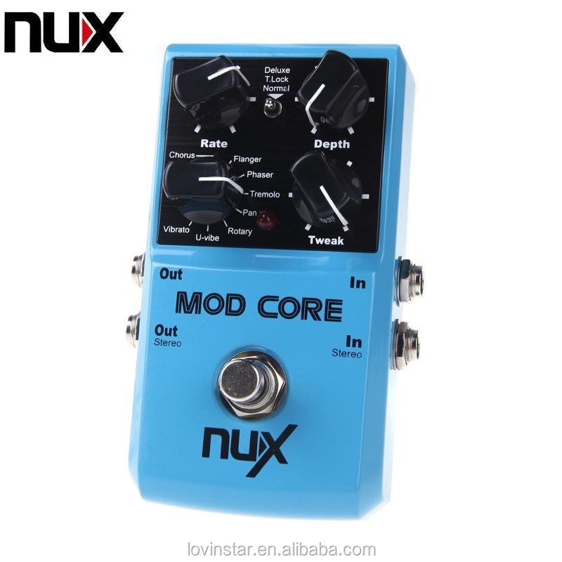NUX MOD Core 8 Modulation Effects Preset Tone Lock Ture bypass Durable Guitar Parts & Accessories Guitar Effect Pedal