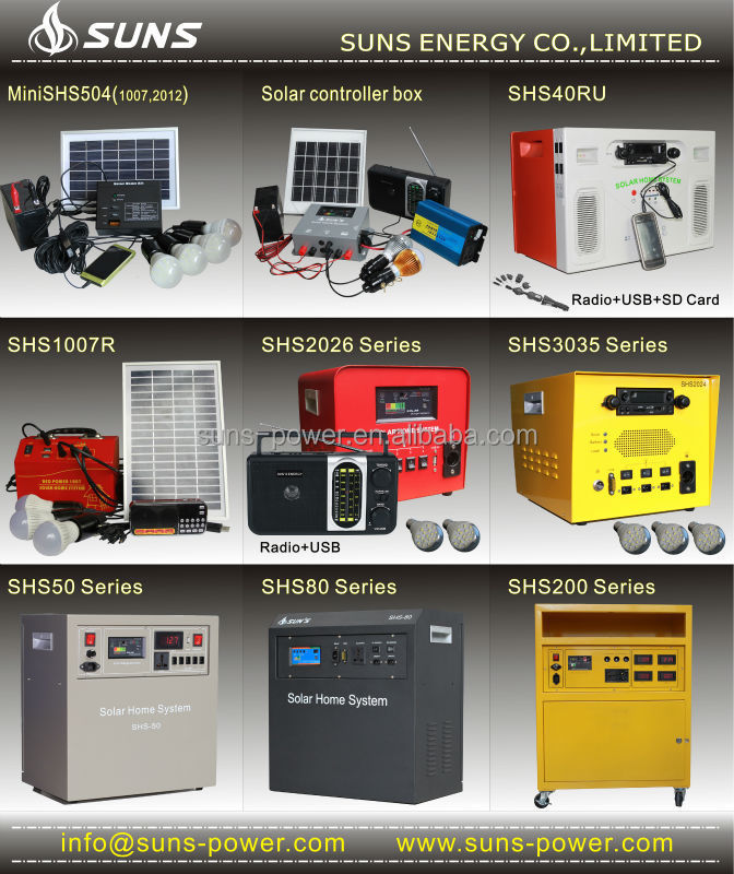 new portable solar power pack lighting kit energy home cctv pay as you solar system with solar panel and DC radio