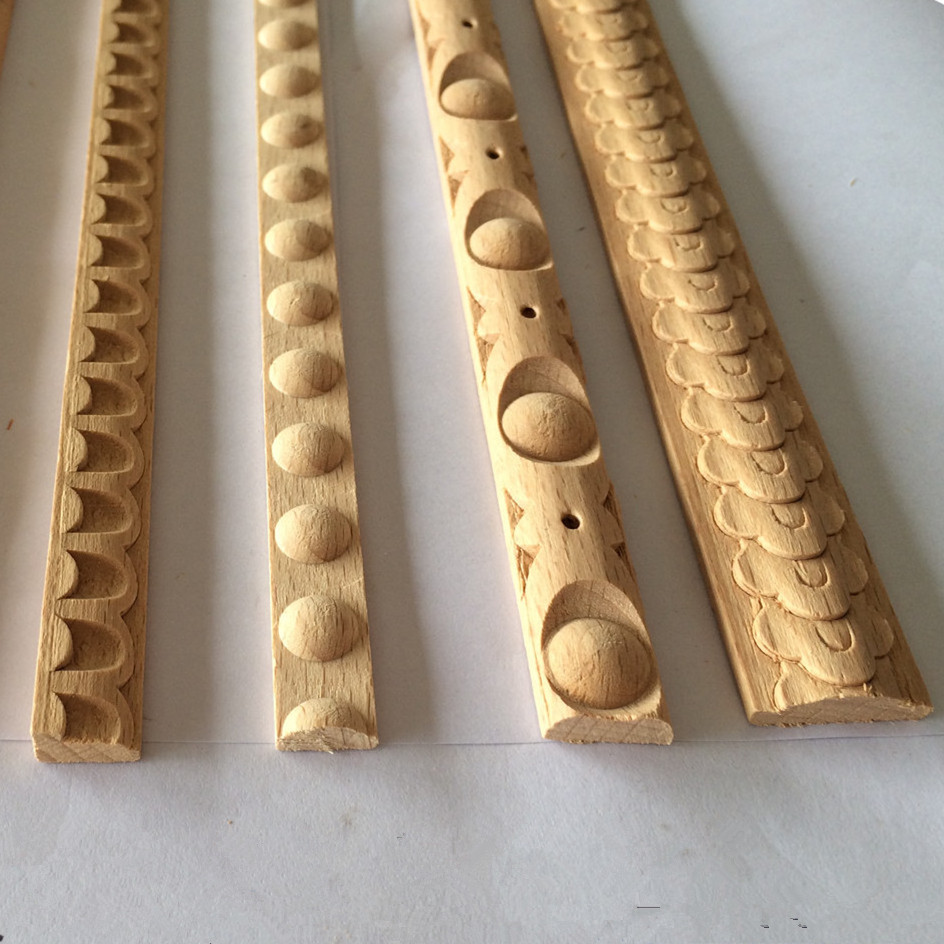 Embossed wood moulding printed wood beeding white wood Crown molding india