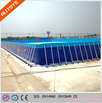 Metal Frame Swimming Pool For Backyard Square Above Ground Pool With Cover For Sale View