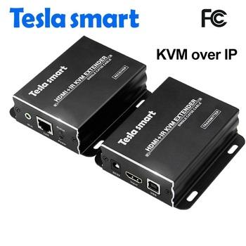 Tesla Smart 120m Usb Kvm Hdmi Over Lan Ir Extender Tcp/ip Standard - Buy  Hdmi Kvm Extender Support Tcp Ip,Kvm Hdmi Over Ip,Hdmi Over Ip Extender