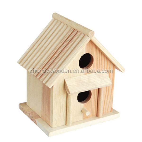 china factory FSC&SA8000 wild garden wooden carved pet bird cages carriers warm gift house for outdoor