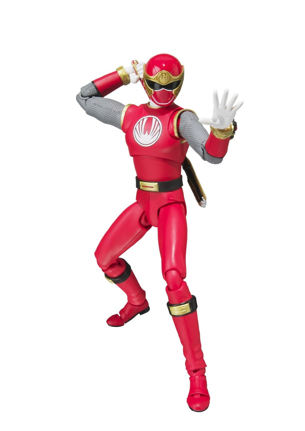 "Bandai Tamashii Nations S.H. Figuarts ""Power Rangers Ninja Storm"" Red Wind Ranger Action Figure"