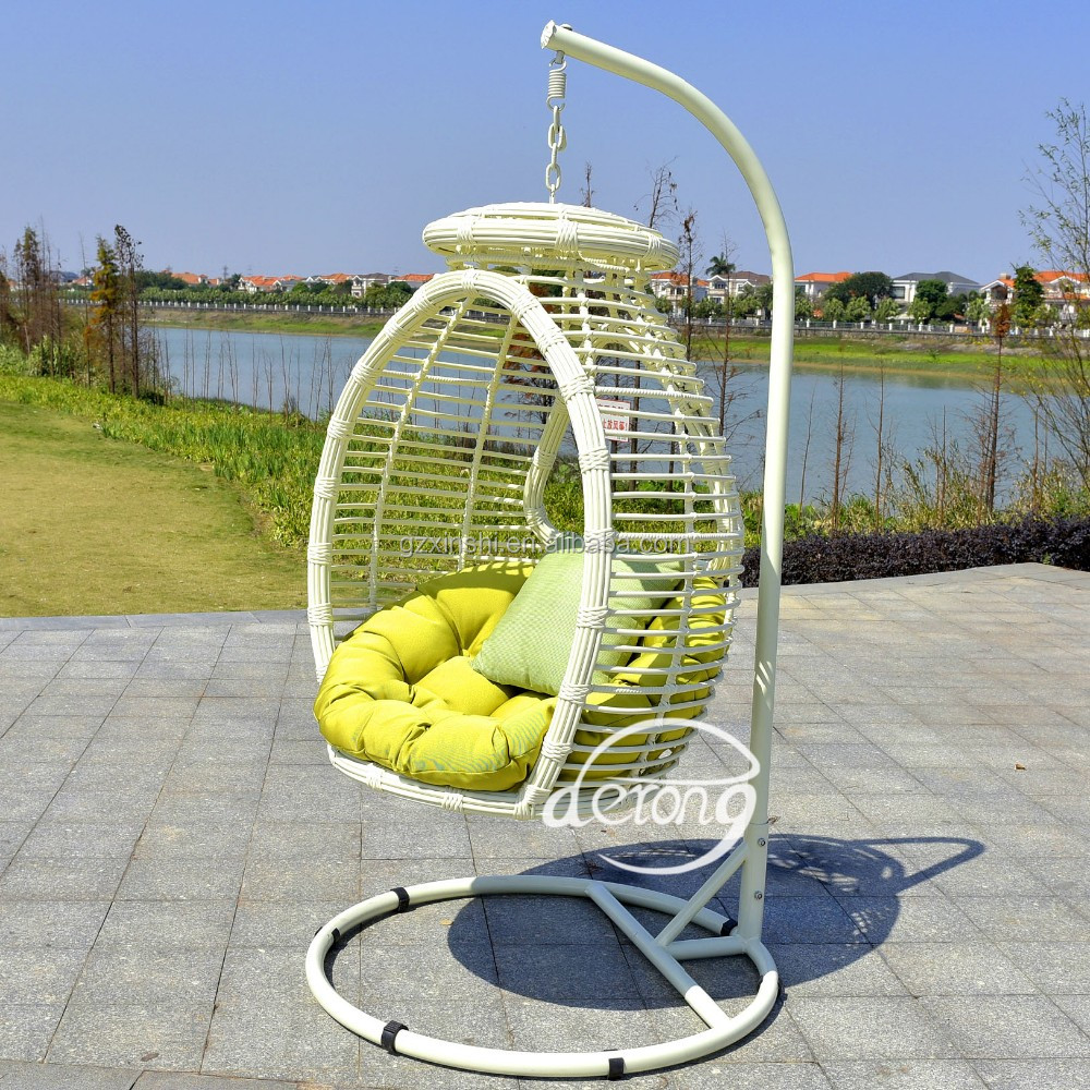 Garden hanging chairs outdoor furniture rattan wicker outdoor hanging egg swing chair exporter trade assurance