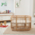 Multifunctional European Style Beech and Pinewood Baby Beds Cribs