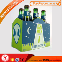factory supply cheap corrugated 6 pack beer box 6 bottle wine box