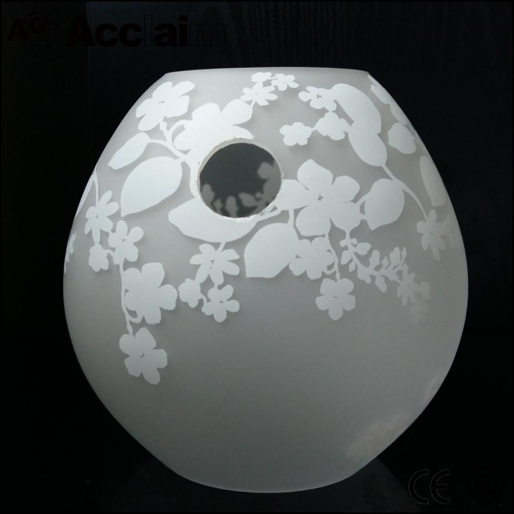 Moderne eenvoudige handgeblazen fancy ontwerp vaas glas ...