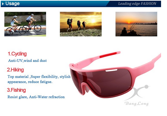 Guangzhou factory new arrival sports cycling sunglasses TR-90 frame sunglasses CE FAD ANSI