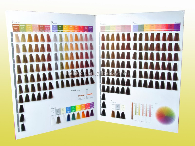 Professional Hair Color Cream Oem Manufacturer Coloring Chart With