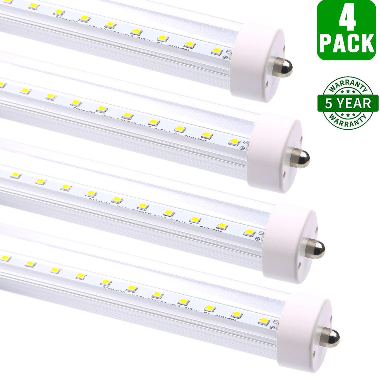 Hykolity 8ft T8 Led Light 36w 80w Equivalent Lights 4000lm