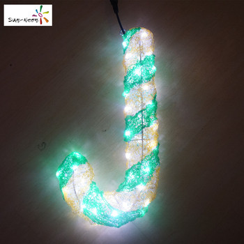 Fancy Led Candy Cane Christmas Lights Green Canes Light