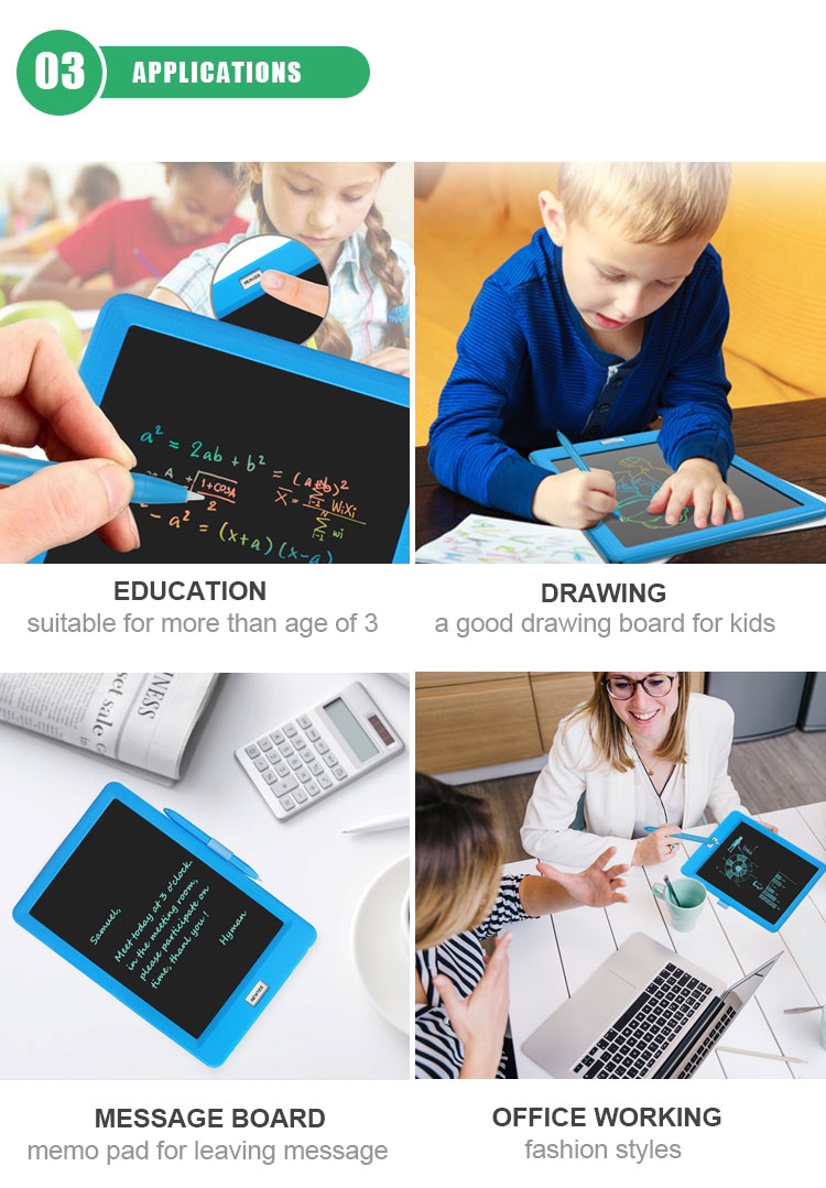 2019 Kids Digital Slate Lcd Draw Tablet Digital Smart Electronic Writing Note Board Memo Pad With Pen