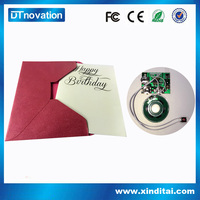 Professional music valentine day greeting cards made in China