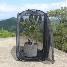 All black foldable 공장은 빛 bag, size 30X30X30 센치메터
