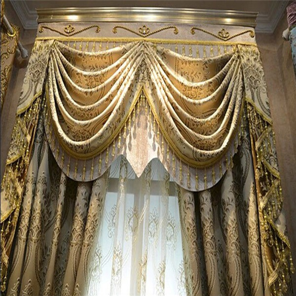 100% Polyester Indian Style Window ready made curtain for resort hotel