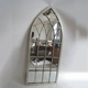 Arch Wrought Iron Stand Large Antique Mirror Decoration Wall