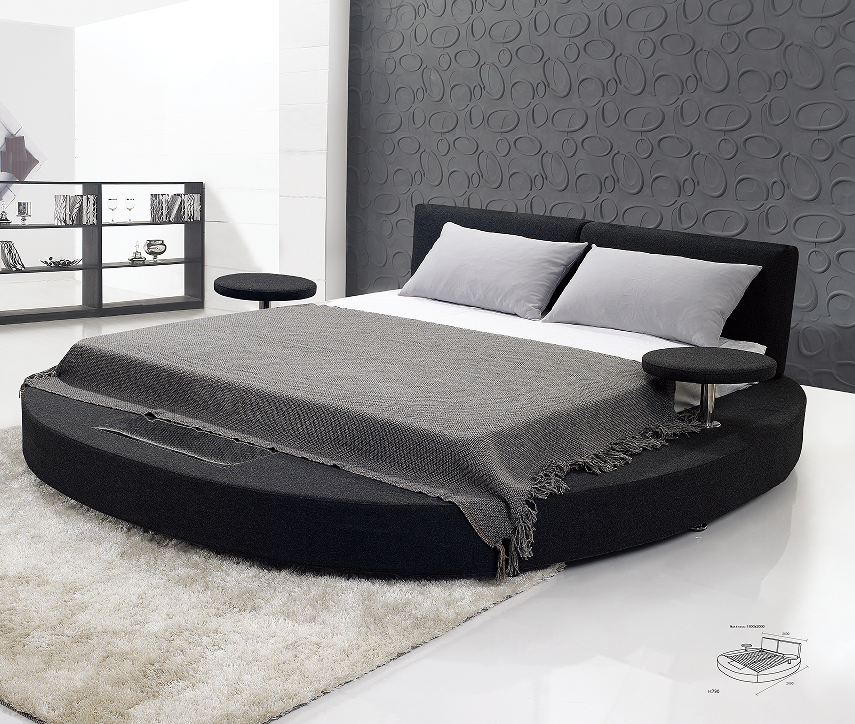 Hot High Quality Bedroom Furniture Round Beds For