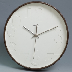 wholesale home decoration 24 hour time natural wooden wall clock