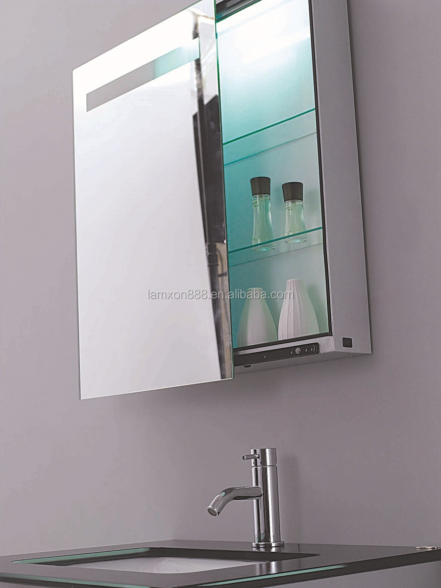 ... Electric Bathroom Mirror Cabinet With Light Sliding Mirror Cabinet ...