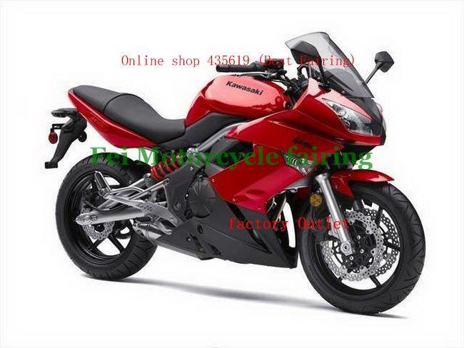Горячая распродажа, Красный 650R ER6F обтекатели Kawasaki ниндзя-650r ER6F 2009 - 2010 09 10 ниндзя-650r ER6F ABS мото-обтекатели аксессуары