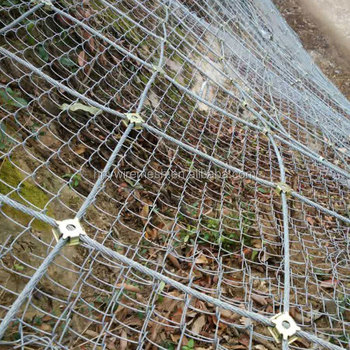 slope protection wire mesh rock fall netting steel rope wire mesh