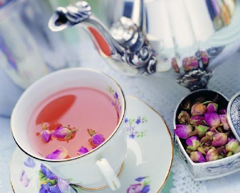 A mix flavour tea dried red rose bud tea dry rose bud