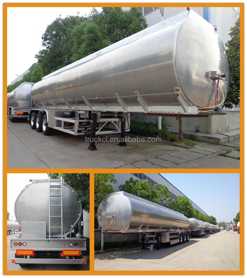 Aluminum Tri-axle Fuel Tanker Truck Trailer Tri-axle Semi Trailer ...