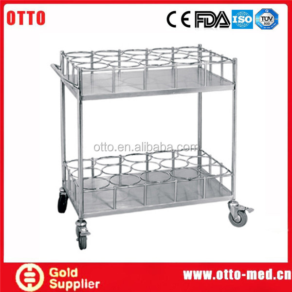 medical furniture Stainless steel water bottle trolley