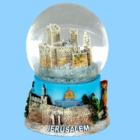 antique style old city custom mini snow globe