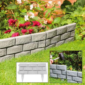 Brick Effect Garden Edging Plastic Hammer In Lawn Border