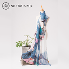 Hangzhou spring summer custom printing 100% silk women chiffon scarves and shawls