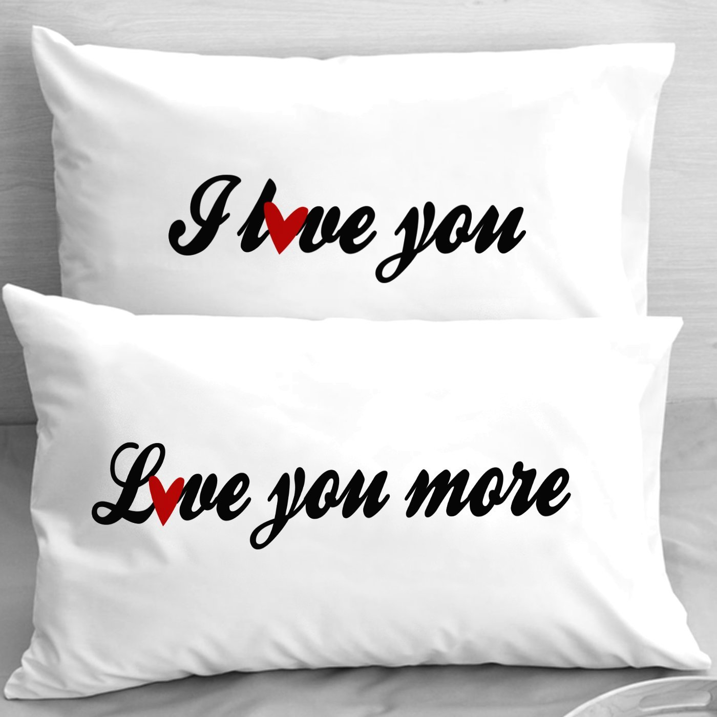 Buy I Love You - Love You More Pillow Cases for Couples, Lovers ...