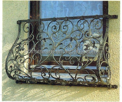 Beautiful decorative wrought iron window grills design