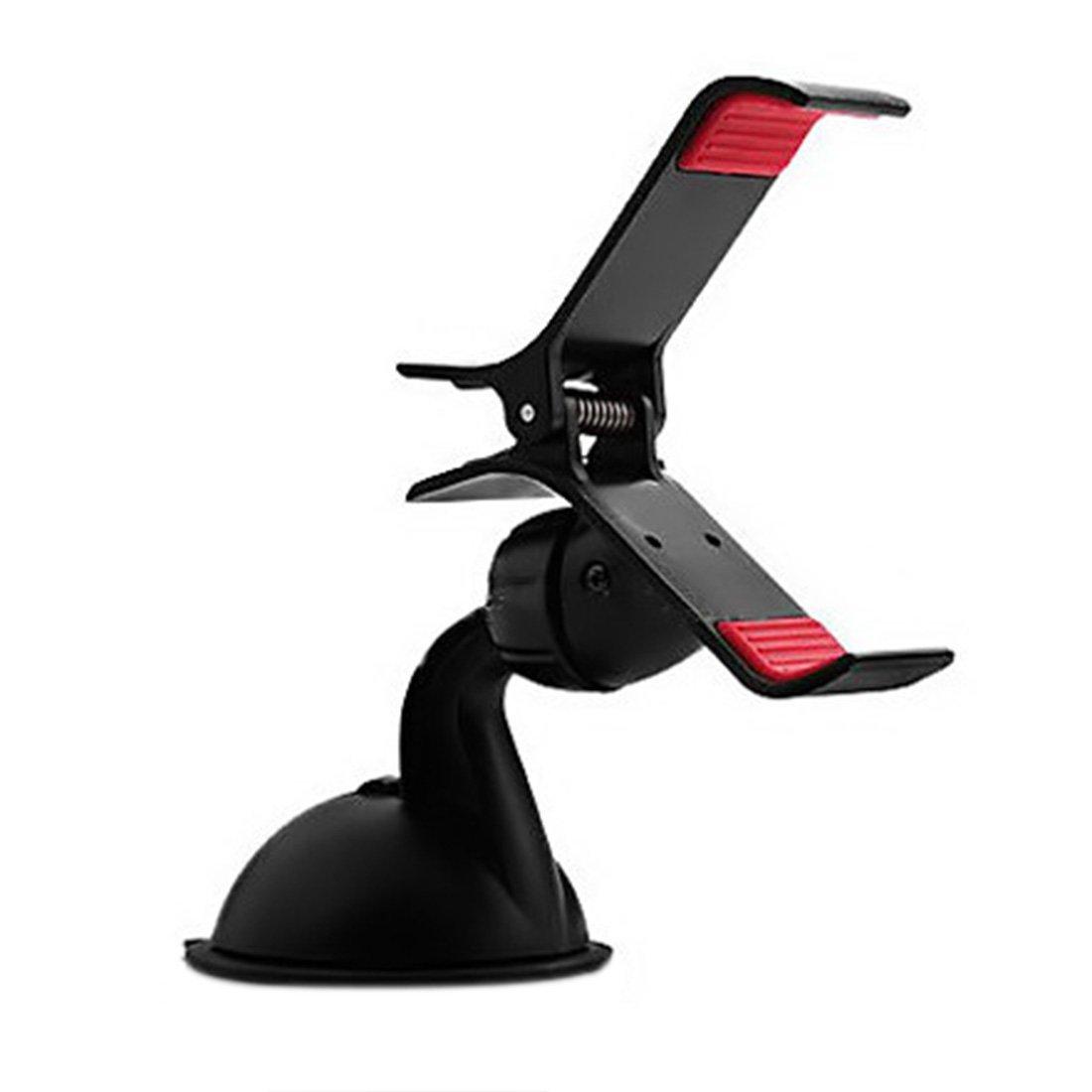 Windshield Mount Stand,Hmane 360°Rotation Universal Car Windshield Mount Stand Holder For Iphone 6/6 Plus Samsung Phone GPS - Black