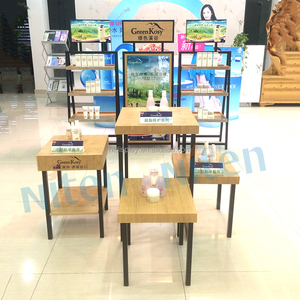 Design Support POP retail wood display table