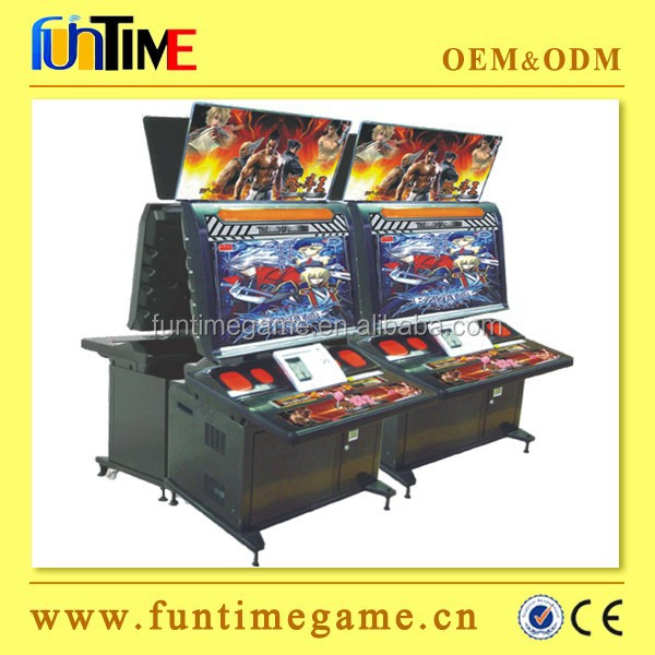 Old game arcade cabinet fighting game machines, street fighter IV