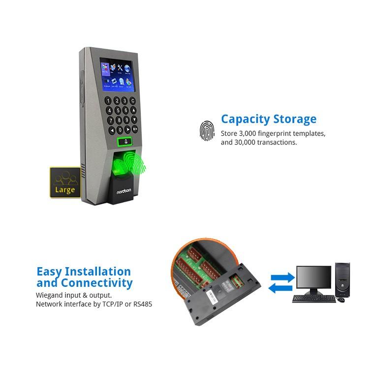 Fingerprint ZKteco biometric time attendance f18 biometric fingerprint  access control with adms, View f18 fingerprint access control with adms,