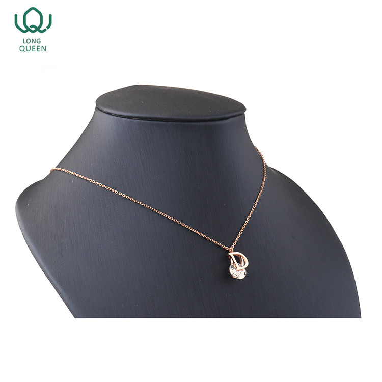 New design stainless steel gold plated pendant necklace