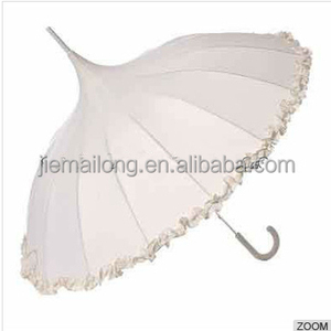 "23""x16k manual Burlesque Ruffle Umbrella"