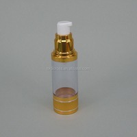 new-style glass gold spray bottle perfume 15ml, good quality airless pump bottle